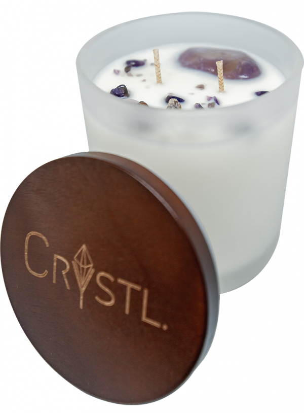 Crystal Candle with lid